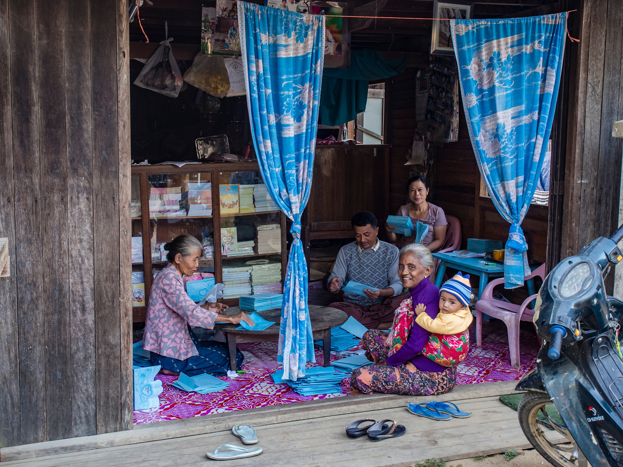 Printing shop, Paung Pyin village