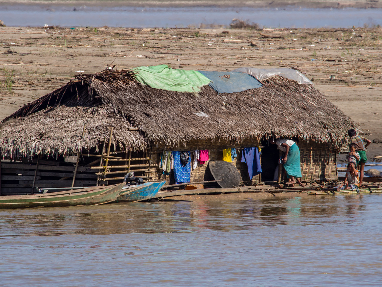Thatch house, Chindwin River