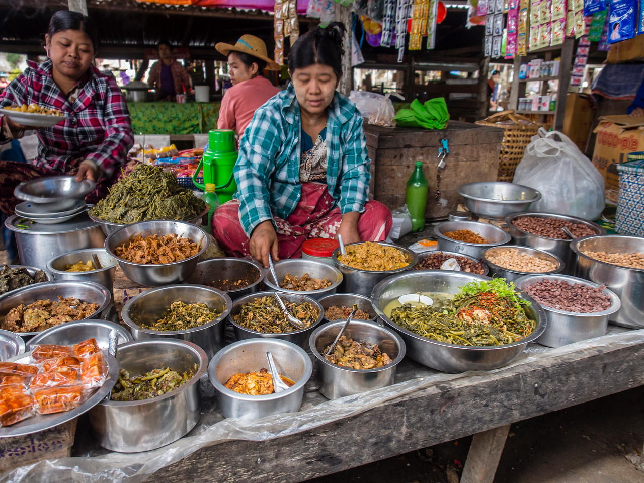 Pyaung Pyin morning market