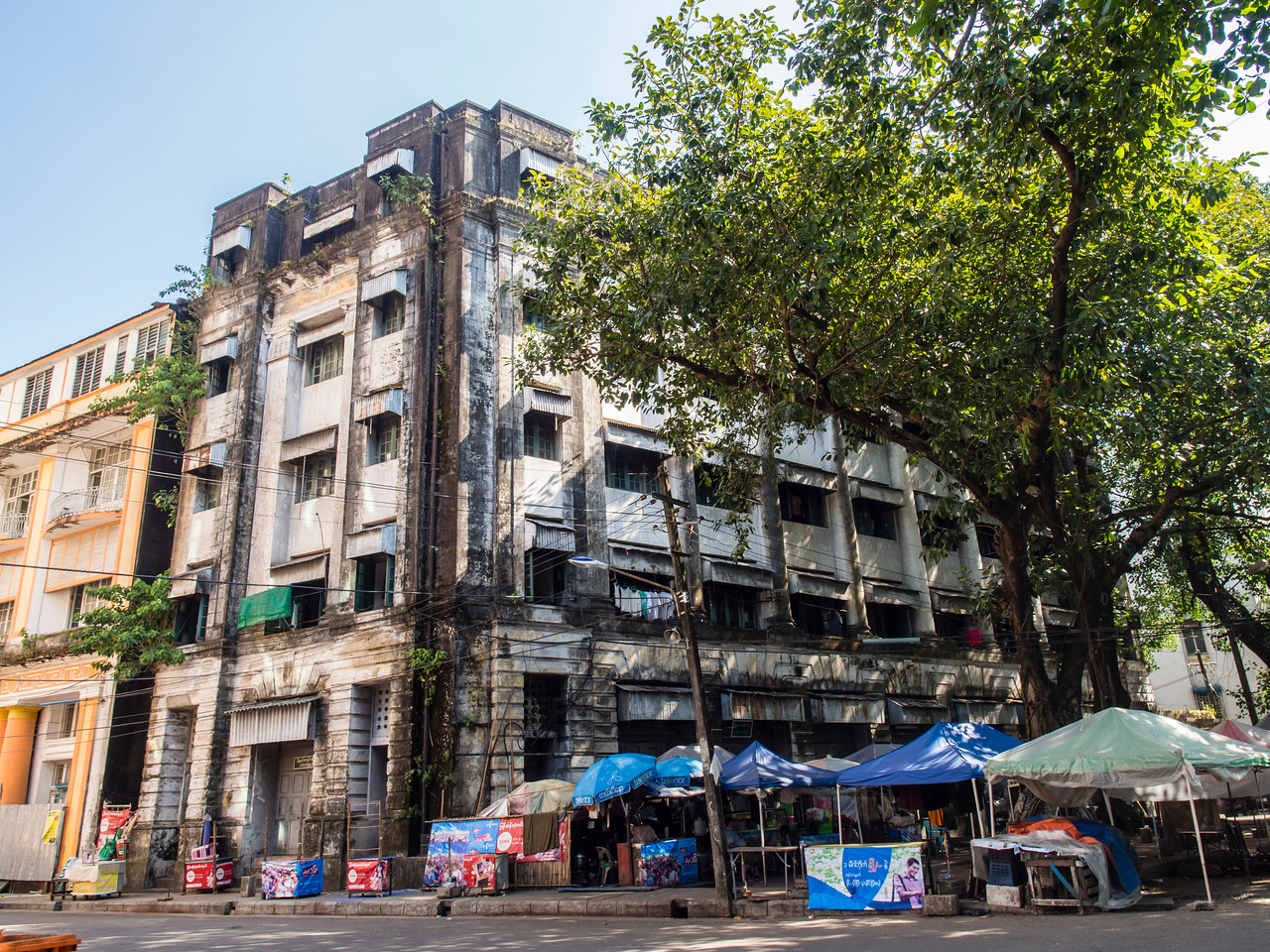 Old colonial buildings, Yangon