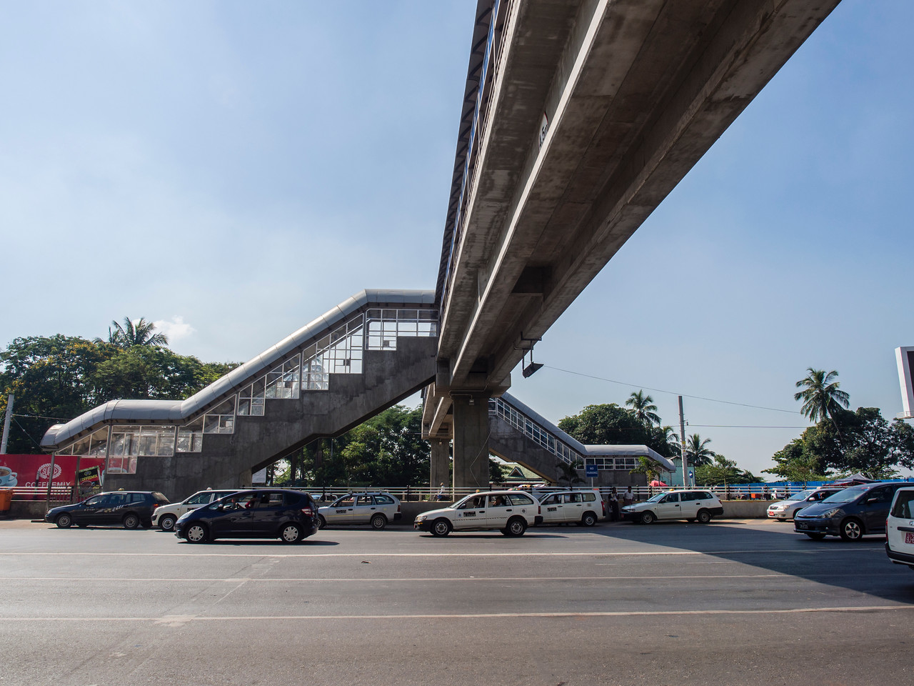 New pedestrian overpass crossing Strand Road to the waterfront