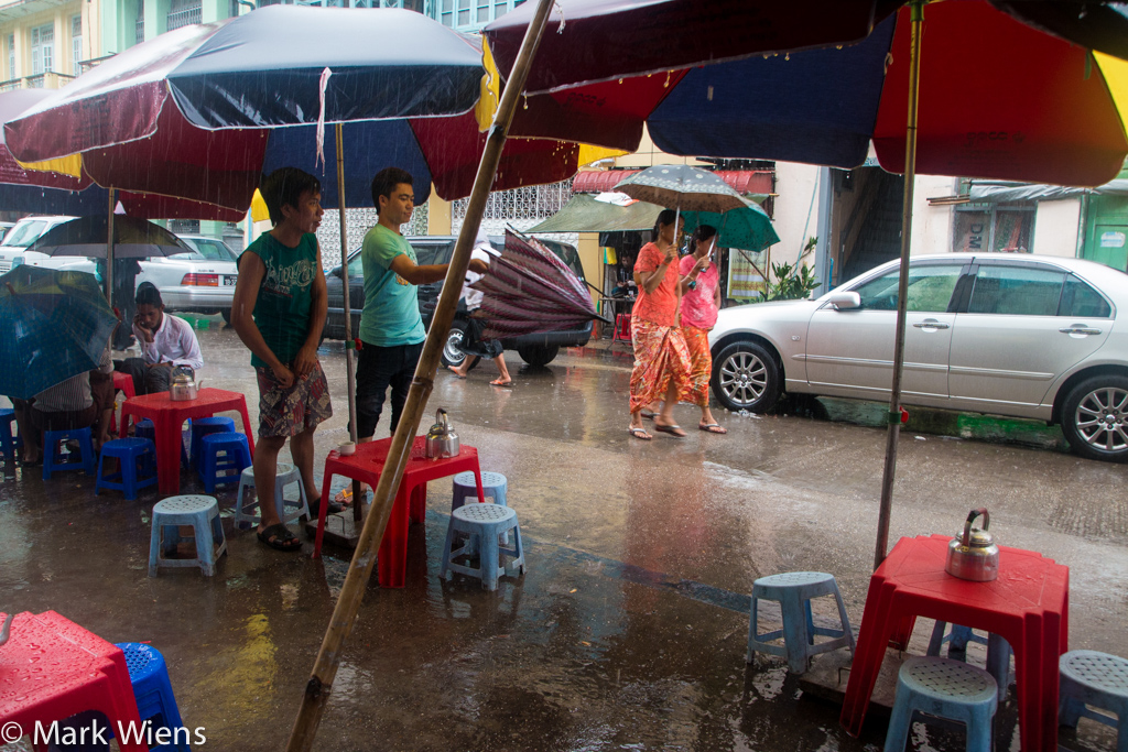 Monsoon season in Myanmar