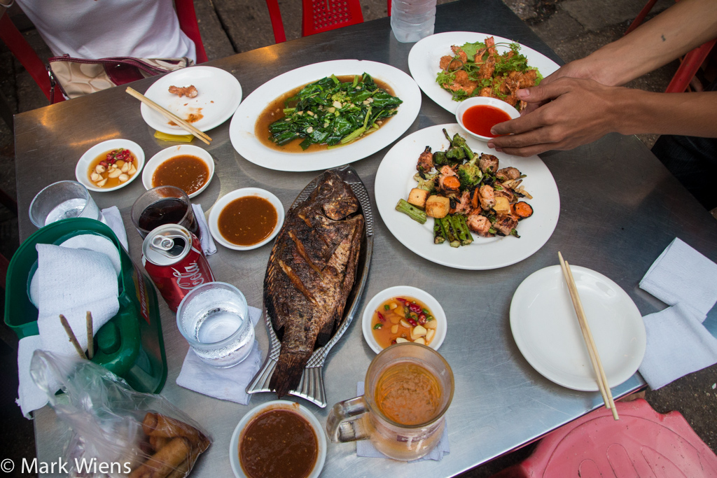 Burmese street food in Yangon
