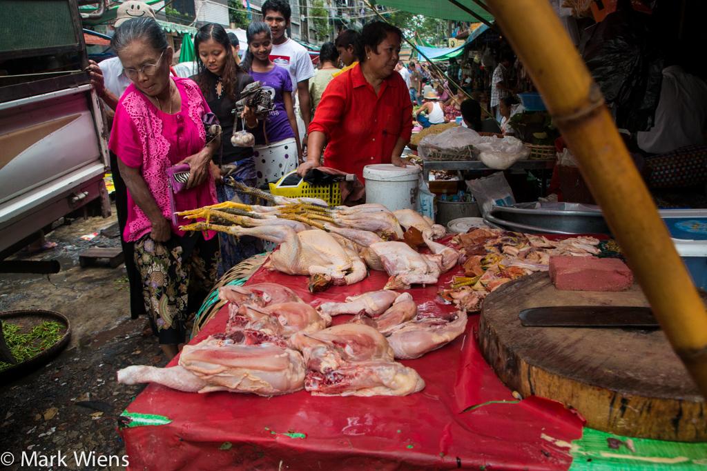 Chickens in Yangon