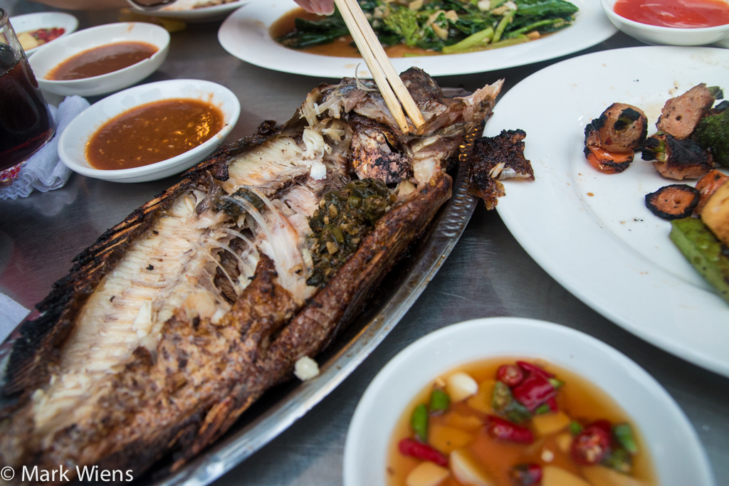 Eating street food in Yangon