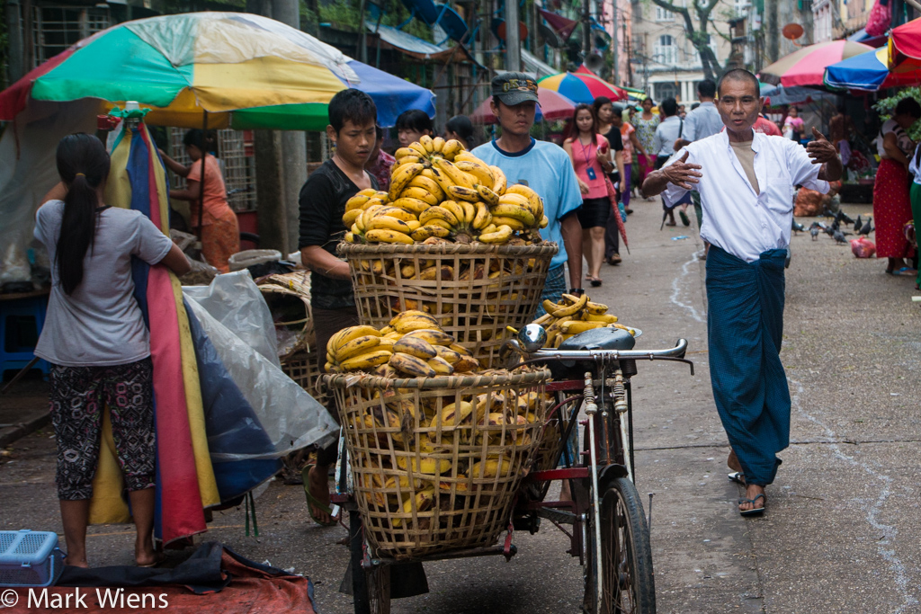 Bananas in Myanmar