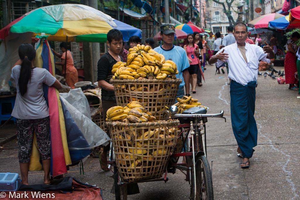 Bananas in Myanmar