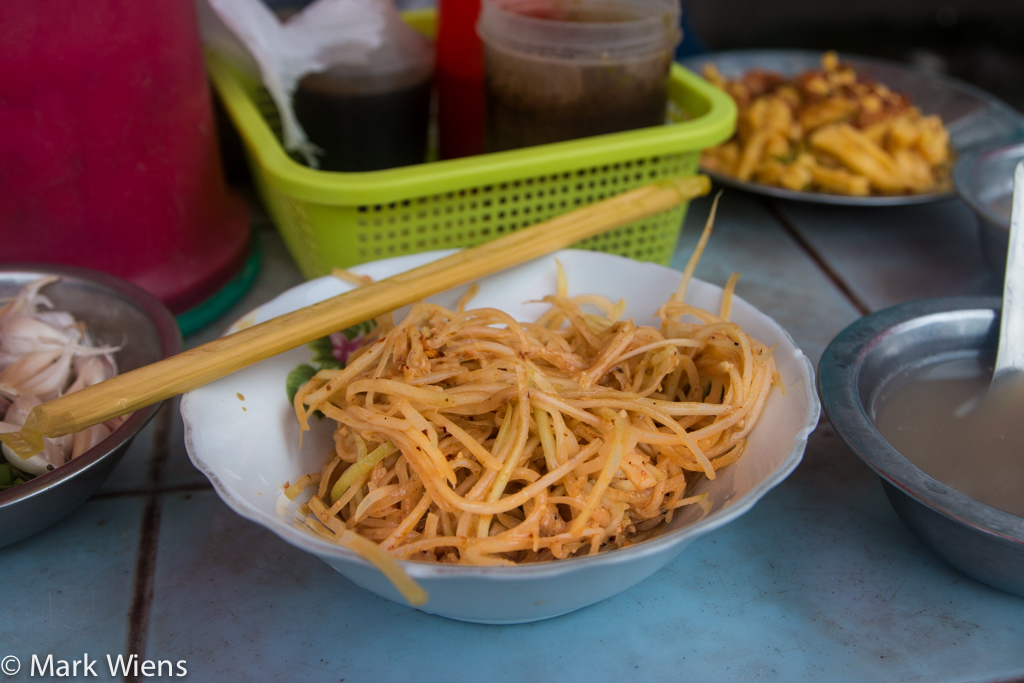 Burmese green papaya salad