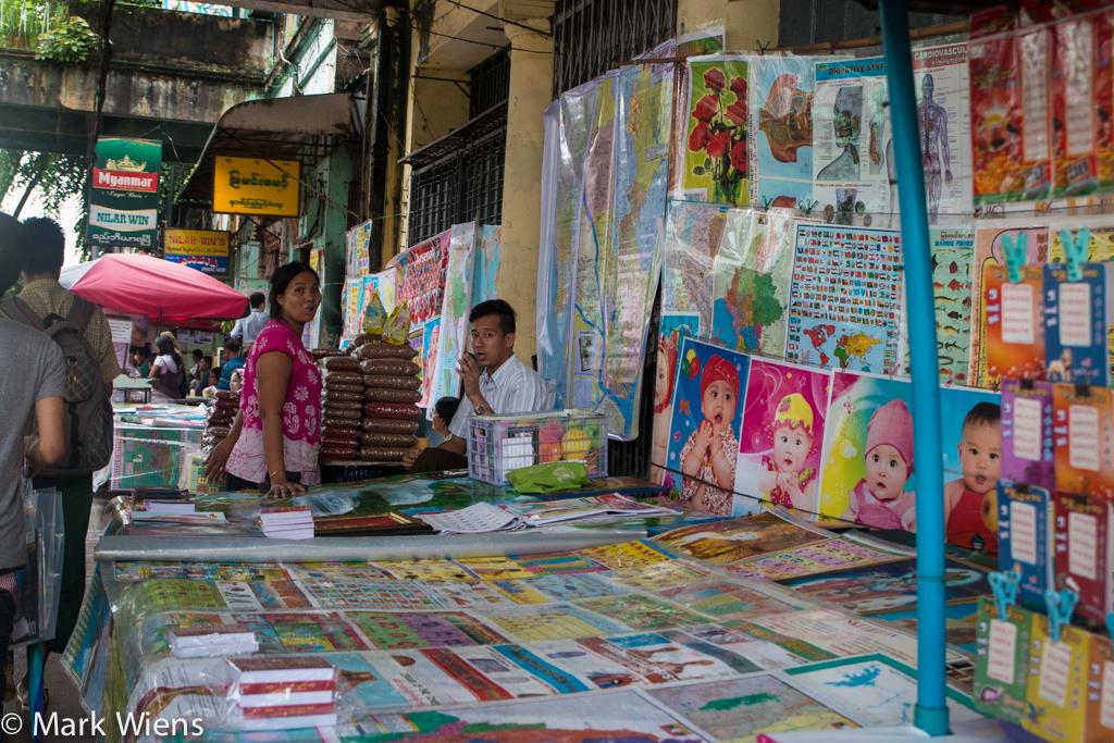 Yangon book vendors