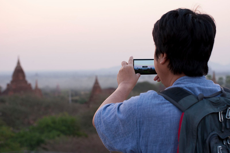 Although he's seen it hundreds of times, MM couldn't resist capturing the glorious sunrise over Bagan.
