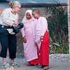 Melissa shares photos and smiles with 2 nuns in Nyaungshwe.