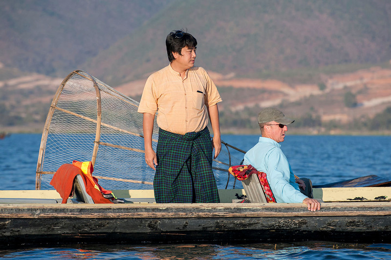 MM guides us to an evening shoot on Inle Lake.