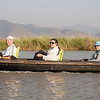 Phil, Kim and Judy travel in style at Inle Lake!