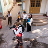In the courtyard of a nunnery in Sagaing