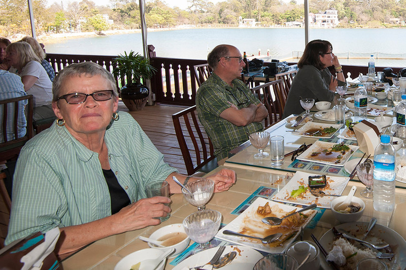 Lunch at a lakeside restaurant  in Pyin Oo Lwin.