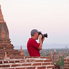 Karl photographs the pagodas of Bagan.