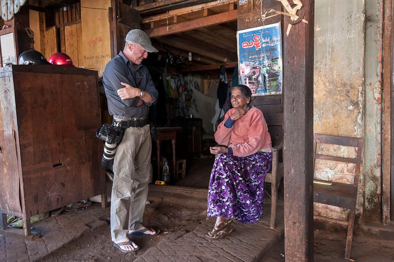 Karl visits an old friend in Pyin Oo Lwin.
