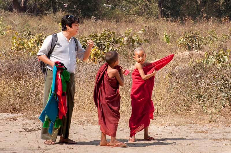 MM instructs the novice monks.