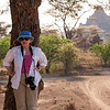 Judy patiently awaits the herd in Bagan.