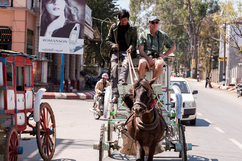 Shep surveys Pyin Oo Lwin from his stagecoach