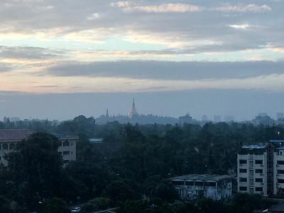 Yangon - Shwedagon Pagoda in the distance
