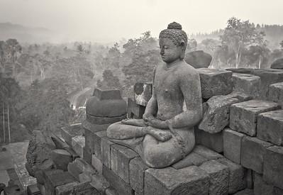 Buddha at Borobudur.