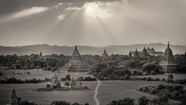 View of Bagan from Shwesandaw Stupa.