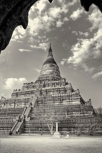 Shesandaw Pagoda in Bagan.