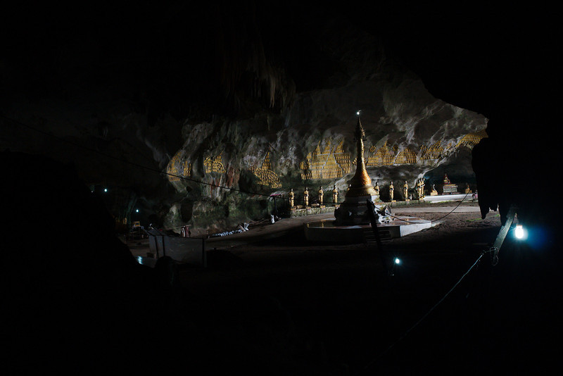 Light shining in from the entrance to the Saddar Cave