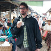 Sampling treats at the Nampan's weekly market
