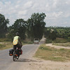 The dry, dusty scenery on the Mandalay-Bagan road