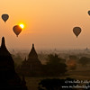 Photo taken from the top of a Buddhist temple....of the daily balloon flight over Old Bagan. Loved the light in the morning, but getting up at 4:30am-ish is the tradeoff.