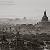 View of Old Bagan, Myanmar on a hazy morning. Over 2,000 Buddhist monuments still stand, most built between the 9th & 13th centuries (there were once over 10,000).