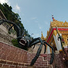 A giant spider once took a local princess captive in the Pindaya caves and was slain by a prince, using a bow and arrow