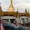 Sule Pagoda, central Yangon - it's located in a traffic circle in a busy part of town