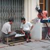 Intense afternoon game of chess on a downtown Yangon side street
