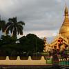 Dusk over the Maha Wizaya Pagoda