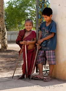 "Two Friends. Bagan. 15"" x 21"""