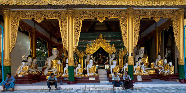 "The Land of the Buddhas. Shwedagon Pagoda. Yangon. 15"" x 8""."