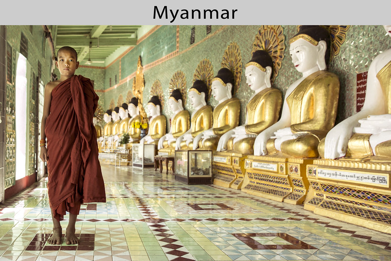 A young monk in Mandalay, the second-largest city in Myanmar (Burma). Photo by Scott Davis in 2013.