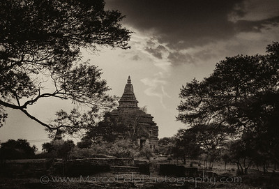 "Last Light in Bagan.15"" x 10"""