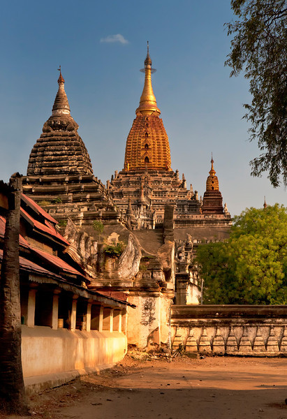 """Temples of Bagan. Ananda Temple. Myanmar. 16"""" x 23"""""""