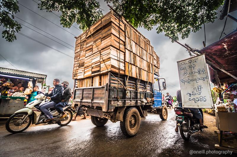 Streets of Nyuang Shwe, Myanmar