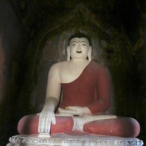 "Buddhas of Bagan #8. 16"" x 16"""