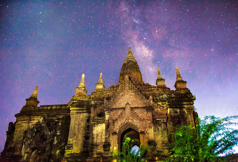 Temple beneath the Milky Way