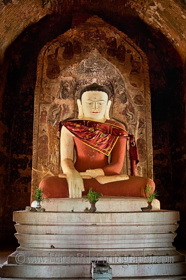 "Buddhas of Bagan #5. 15"" x 22"""
