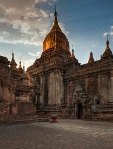 """Temples of Bagan #6. 16"""" x 21""""."""