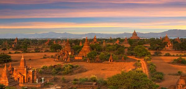 """Temples of Bagan. #5. 32"""" x 16"""""""