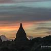 Stupa at sunset, Bagan, Myanmar
