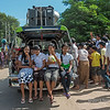 Girls 'tailgatng' on the speaker truck at street festival, Bagan, Myanmar<br /> <br /> The music was so loud at the festival that it was literally painful!  I don't know how the participants could stand it.  Even though there was lots to photograph, I had to leave before I went deaf.
